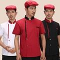 Fashion Chef Jacket Food Service Short Sleeved Summer Hotel Chef Uniform Single-breasted Chef Clothing