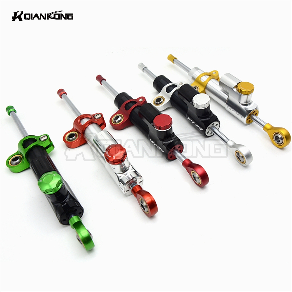 R QIANKONG MT07 MT09 MT 09 MT 07 Moto CNC Damper Steering StabilizerLinear Reversed Safety Control Over 600CC Bike for Yamaha gt motor motorcycle cnc steering damper stabilizerlinear reversed safety control with bracket for yamaha mt09 mt 09 fz 09 13 17