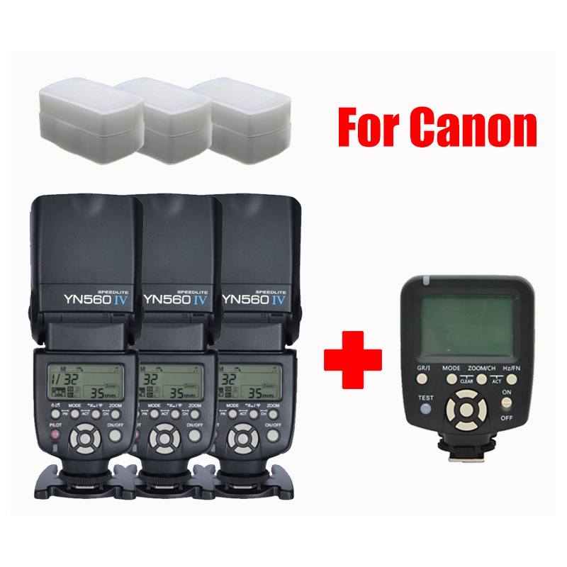 3x YONGNUO YN560 IV Master Radio Flash Speedlite + YN560-TX Wireless Flash Controller for Canon Version DSLR Cameras  yongnuo yn 560 iv yn560 wireless ttl hss master radio flash speedlite 2pcs rf 605c rf605 lcd wireless trigger for canon camera