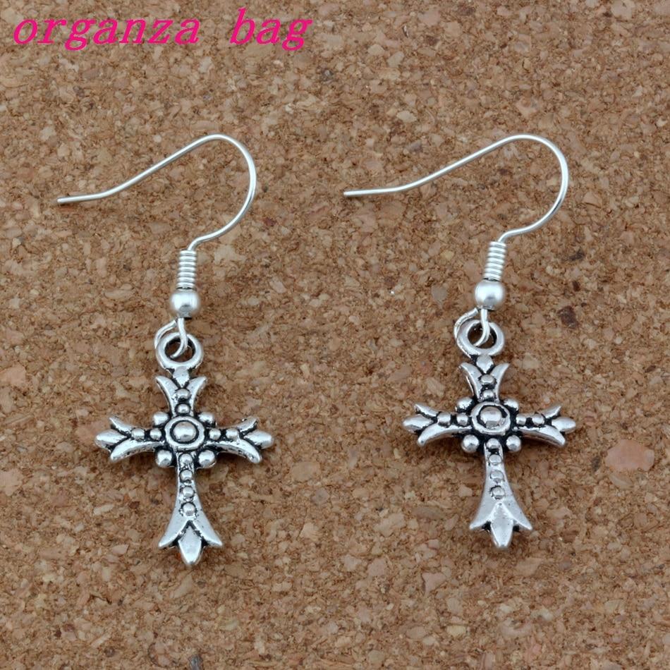 1 x Cross Tibetan Silver Clip On Charm Pendant Dangle Halloween