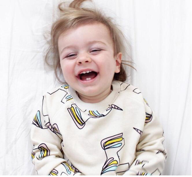 New Years Baby Clothing Kids Newborn baby Boys Girls Long Sleeve Unicorn Sweatshirt Boy Girl Cotton Clothes Outfits Sets