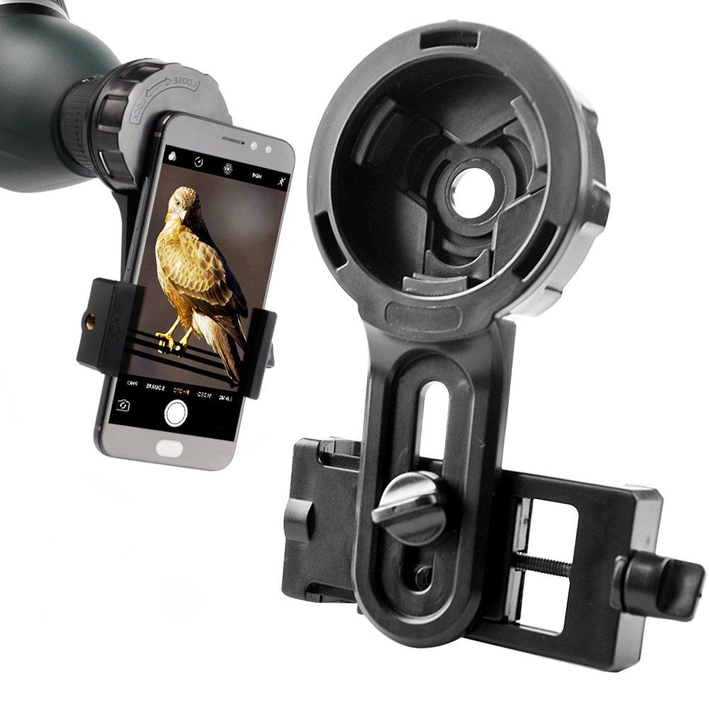 El titular del telescopio lente del teléfono rápido fotografía adaptador de montaje soporte para binoculares Monocular telescopio microscopio apoyo