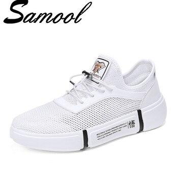 Summer Fashion  Men's Mesh Breathable Casual Shoes Hollow Outdoor Walking Shoes Male Footwear Flats Calzado Hombre Sapatos Sx4
