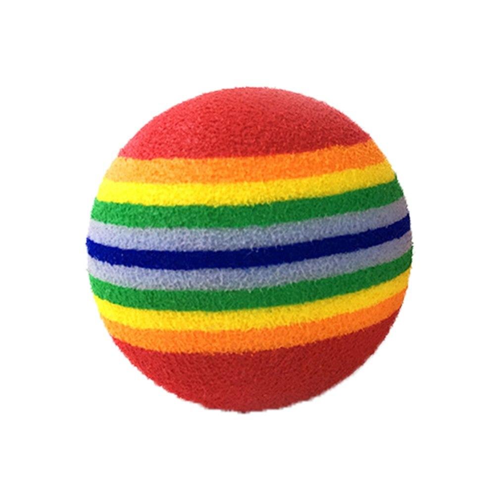 Gematigd Hoge Kwaliteit Nieuwe Huisdier Super Q Streep Regenboog Bal Foam Bal Hond Speelgoed Kat Regenboog Bal Dierbenodigdheden Spot Aangenaam Voor Het Gehemelte