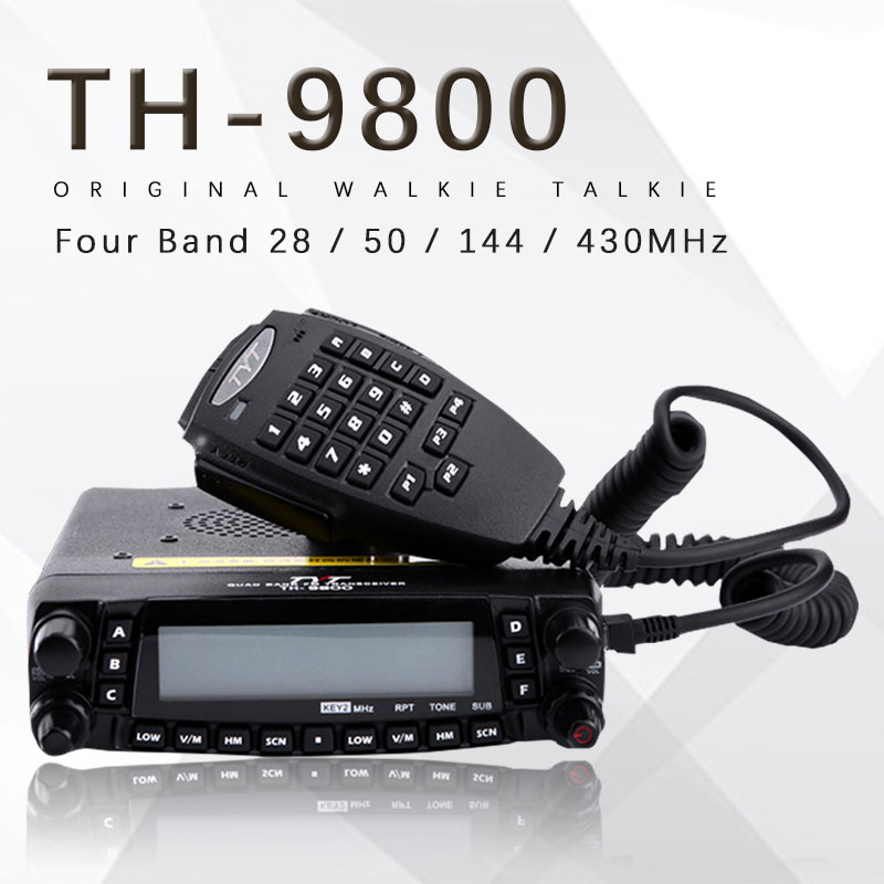 General <font><b>TYT</b></font> <font><b>TH</b></font>-<font><b>9800</b></font> Pro 50W 809CH Quad Band Dual Display Repeater Scrambler VHF UHF Transceiver Car Truck Ham Radio image