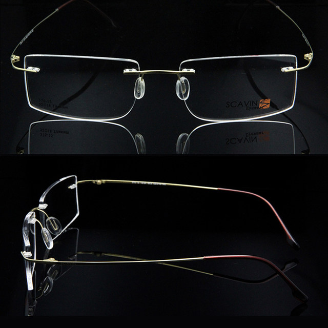 Tienda Online ESNBIE ordenador gafas sin montura de titanio marco ...