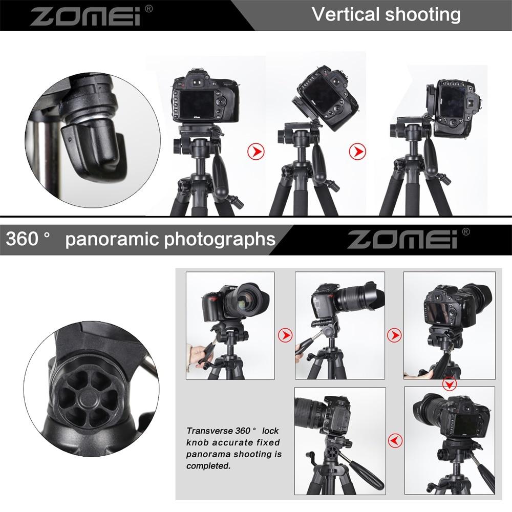 ZOMEI Q111 Camera Tripod Pan Head Professional Portable Travel Aluminum Tripode-6