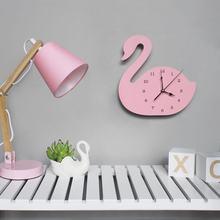 Creative Wooden Animal Clock Wall Decoration Clock Birthday Present For Children's Room Living Room Wall Decor