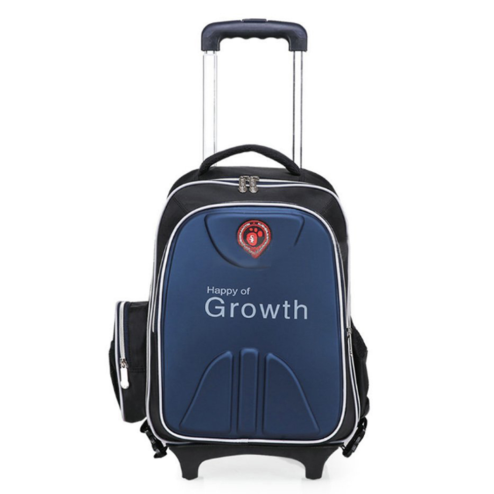 trolley backpack travel School backpack for children boy hand luggage / Blue