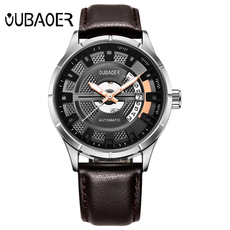 OUBAOER Men Leather Mechanical Watches Auto Date Self Wind Automatic Watch Man Classic Wristwathces Relogio Automatico OB2023OUBAOER Men Leather Mechanical Watches Auto Date Self Wind Automatic Watch Man Classic Wristwathces Relogio Automatico OB2023