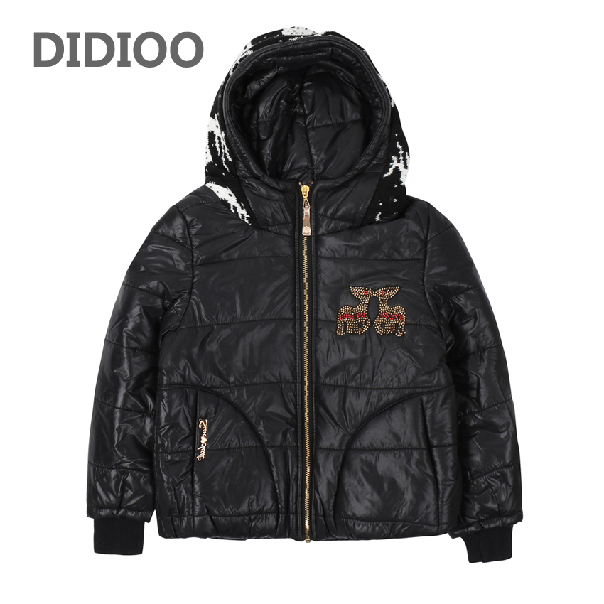 Children Parkas Coats for Girls Fur Collar Outerwear Kids Warm Clothes Winter Infant Cartoon Jackets Thick Girls Hooded Costumes