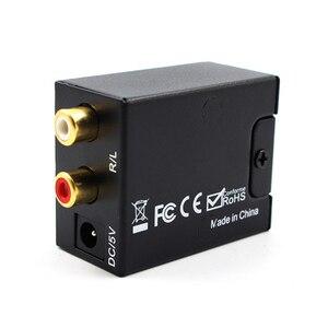 Image 2 - Optik koaksiyel Toslink dijital Analog ses dönüştürücü adaptör RCA L/R 3.5mm