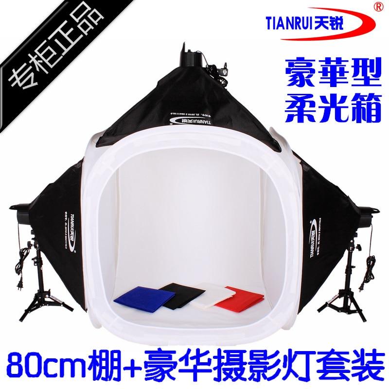 Equipo fotográfico luz suave shooting tent caja kit 80 cm photography luz conjun