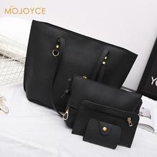 4pcs bags Women Leather Shoulder Crossbody Bag Female