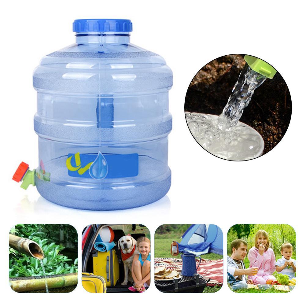 Nouveau Style 11.3L porte-conteneur d'eau auto-conduite Tour PC seau de stockage robinet rond Portable seau à boire en plein air