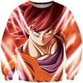Classic Anime Dragon Ball Z Sweatshirt Long Sleeve Outerwear Men Hipster 3D Sweatshirt Super Saiyan Goku Crewneck Pullovers