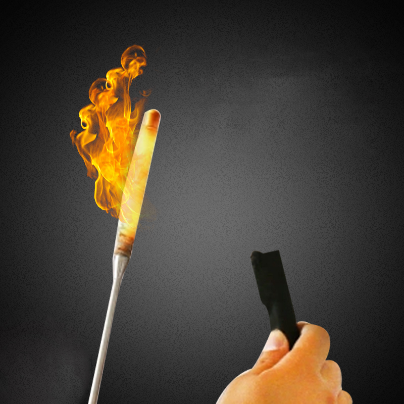 Ignition Cap For Flaming Torch To Cane Magic Trick Magician Fire Magic Wand Stage Illusion Gimmick Props Comedy