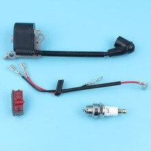 Bobina de ignição ligar/desligar parar kill switch spark plug kit para husqvarna 136 137 141 235 240 36 41 23 26 motosserra peças reposição