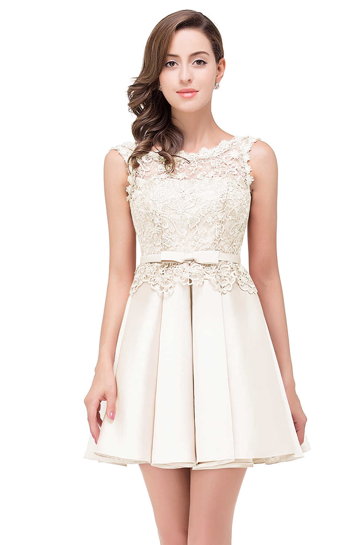 f7418e3c7fa71 vestidos de gala Dusty Pink Prom Dresses 2019 Short Sexy Applique Lace  Formal Party Gown Prom Dress Elegant vestido de festa