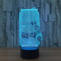 Novelty 7 Color Change 3D Table Lamp Bottle Shape LED Bluetooth Lighting Bedroom Home Decorative Night