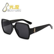GUANGDU Oversized Square Women Sunglasses Men New Big Frame Sun Glasses Goggles Unisex Retro Vintage Glasses Oculos de sol UV400