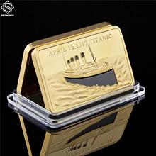 Titanic Commemorative-Bar/coin-Collection Gold 1OZ Rms of Ship-In-Memory Victims Layered.999