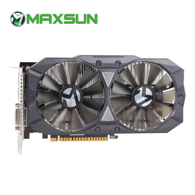 MAXSUN GTX 1050 Ti 4G video card 128bit GDDR5 NVIDIA 7000MHz 1291-1392MHz PCI Express 3.0 X16 768units graphics card for Gaming