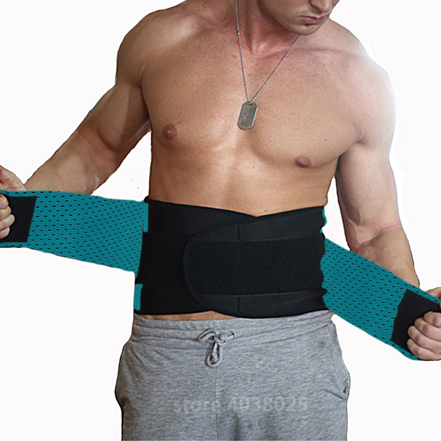 Lumbar Back Spinal Spine Waist Brace Support Belt Corset Stabilizer Cincher Tummy Trimmer Trainer Weight Loss Slimming Belt Men 4