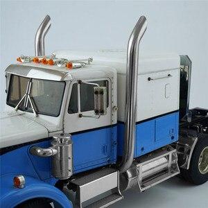 Image 4 - 1 pair Exhaust Pipes RC Model DIY For TAMIYA American King Truck Exhaust Pipe Metal Car Accessaries