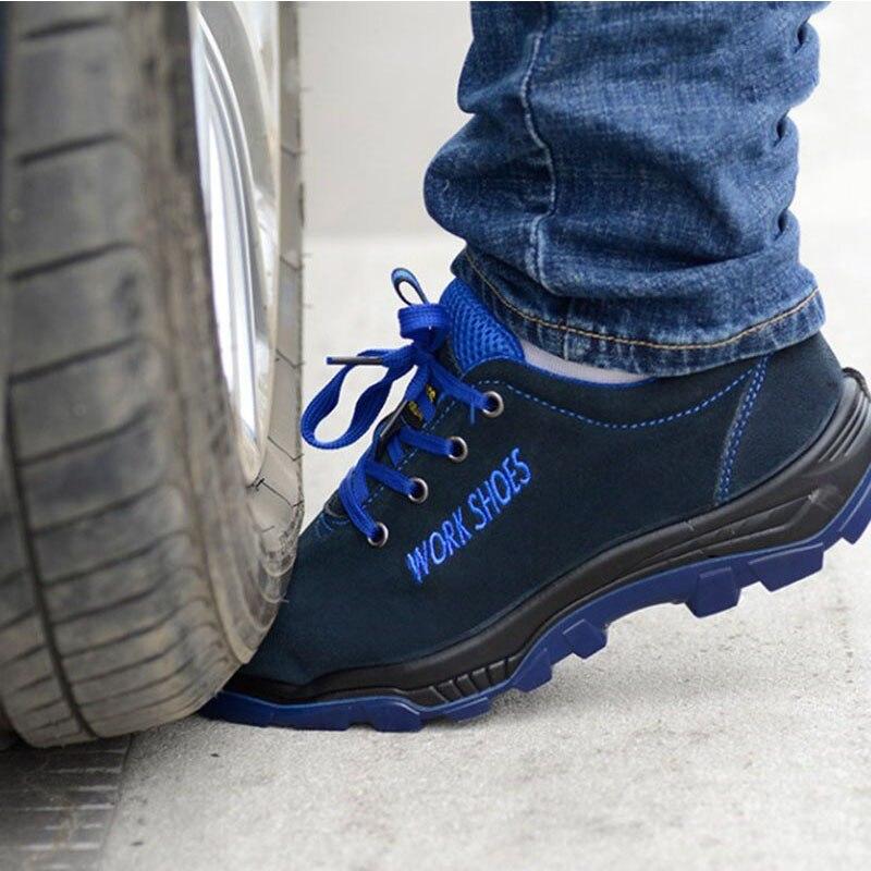 Uomini di modo Casual Stivali Da Lavoro Scarpe di Sicurezza Puntale In Acciaio Scarpe di Assicurazione Del Lavoro A Prova di Puntura Traspirante Caldi degli uomini di inverno scarpe