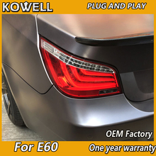 2 шт. автомобильный Стайлинг для BMW E60 задний светильник s 2004-2010 для E60 светодиодный задний фонарь+ сигнал поворота+ тормоз+ задний светодиодный светильник
