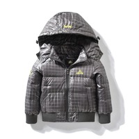 Fashion Denim Baby Boys Children Hooded Outerwear Coat With Soft Nap Kids Jackets For Boy Jacket