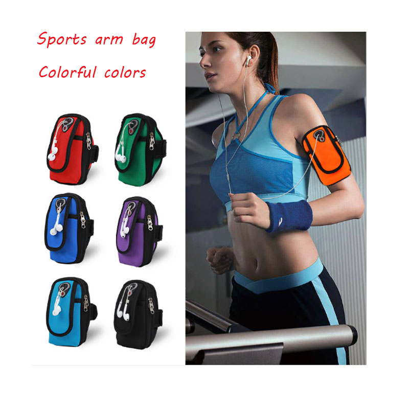 Sports mobile phone arm bag men and women running arm bag wrist bag outdoor arm with waterproof arm bag