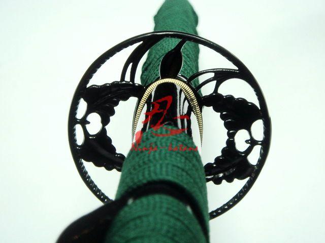 battle ready japanese samurai katana iron flower tsuba Mn steel sharpened blade