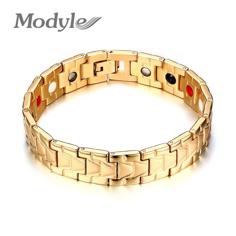 Modyle New style stainless steel cool magnetic bracelets&bangles healthy care hand bracelets for men jewelry free shipping