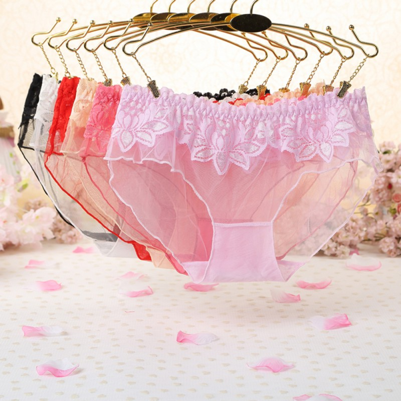 Women Girls Sexy Lace Low Waist Thongs Underwear Briefs Knickers LingerieWith