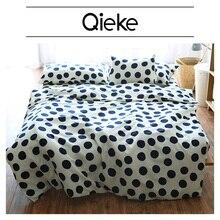 Brand High Quality Sanding Cute Dot Print 100%Cotton bedding set bed sheet/fitted sheet/duvet cover/pillow case Home Textile
