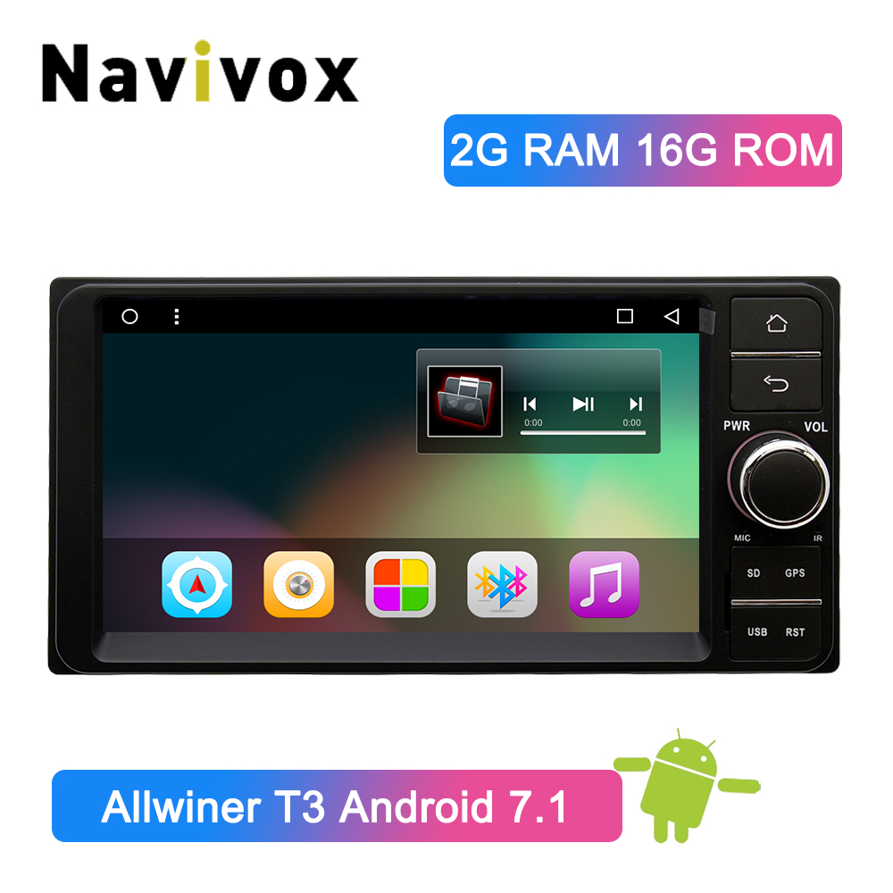 Navivox 2 Din Android 7.1 Car Multimedia Player For Toyota Universal Car DVD GPS Radio Steering Wheel Control Bluetooth WiFi RDSNavivox 2 Din Android 7.1 Car Multimedia Player For Toyota Universal Car DVD GPS Radio Steering Wheel Control Bluetooth WiFi RDS