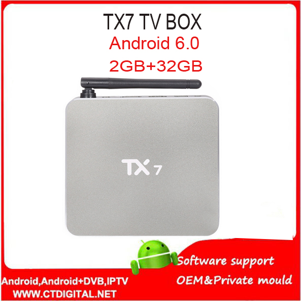 10PCS TX7 Android 6.0 TV Box with Amlogic S905X Quad Core Dual Band WiFi 2.4GHz + 5GHz Bluetooth 4.0 KD 16.1 Miracast DLNA askent s 7 1 tx