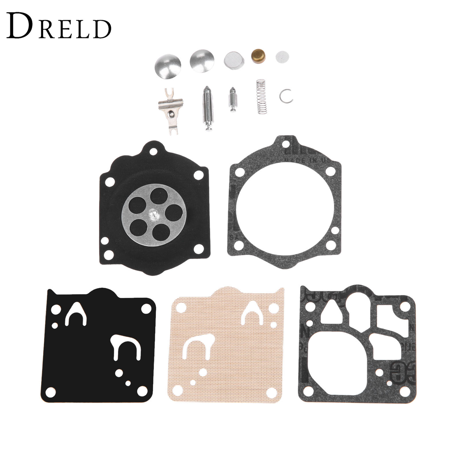DRELD Carburetor Carb Rebuild Kit Gasket Diaphragm for Stihl <font><b>MS660</b></font> Chainsaw Walbro WJ Carb Replace Walbro K10-WJ/New K12-WJ image