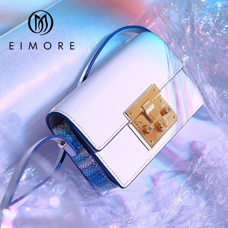 EIMORE Luxury Women Bags Designer Messenger Genuine Leather Shoulder Bag Fashion Women Famous Brands Small Bags For Girls Bag цена