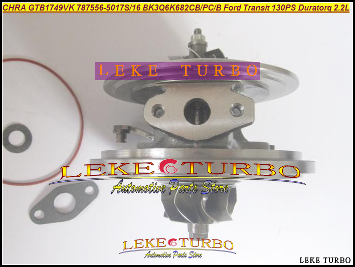 Free Ship Turbo CHRA Cartridge GTB1749VK 787556-5017S 787556-0016 1717628 1760759 787556 For Ford Transit 130PS Duratorq 2.2L  цены