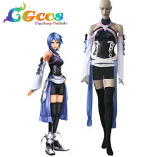 CGCOS Free Shipping Cosplay Costume Kingdom Hearts Birth By Sleep Aqua New in Stock Halloween Christmas Party Uniform(China)