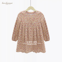 Brand 2017 Newest Design Girls Flower Frocks Children Clothes Hot Dresses Baby Dresses Long Sleeve Baby