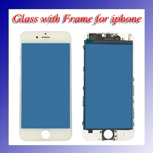 2pcs/lot High Quality for iphone Original New A+ LCD Front Touch Screen Glass Outer Lens with Frame Bezel 5pcs lot official original new a quality screen for 6s lcd display black white