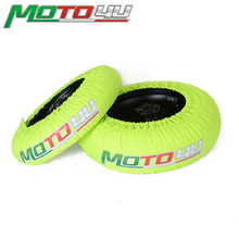 Chauffe pneus pour moto de course, universel, CE Digital, jaune, 1 paire, 120/165 120/190 120/200
