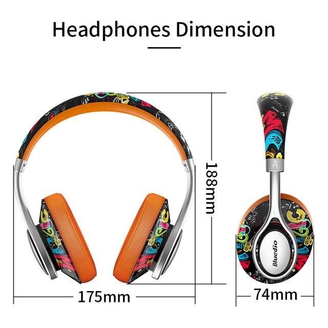 Bluedio A2 Bluetooth Headphones/Headset Fashionable Wireless Headphones for phones and music Phone Earphones & Headphones