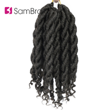 SAMBARID Hair Faux Locs Curly Crochet Braids Hair 12 Inch Pu