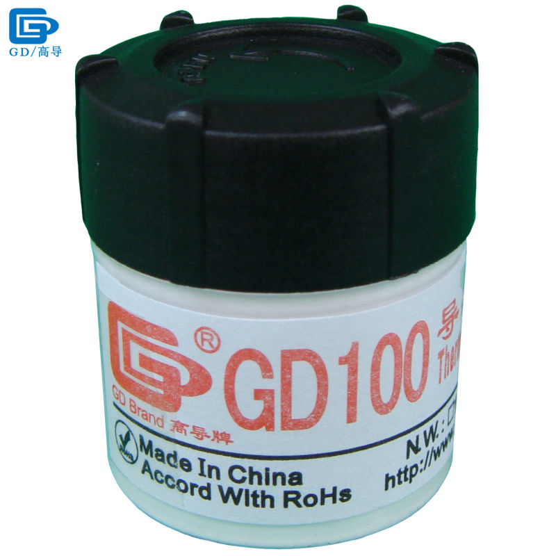 GD Brand Heat Sink Plaster Compound GD100 Thermal Conductive Grease Paste Silicone Net Weight 20 Grams White For LED CPU CN20 gd450 thermal conductive grease paste silicone plaster heat sink compound net weight 30 grams golden for led gpu cpu cooler sy30