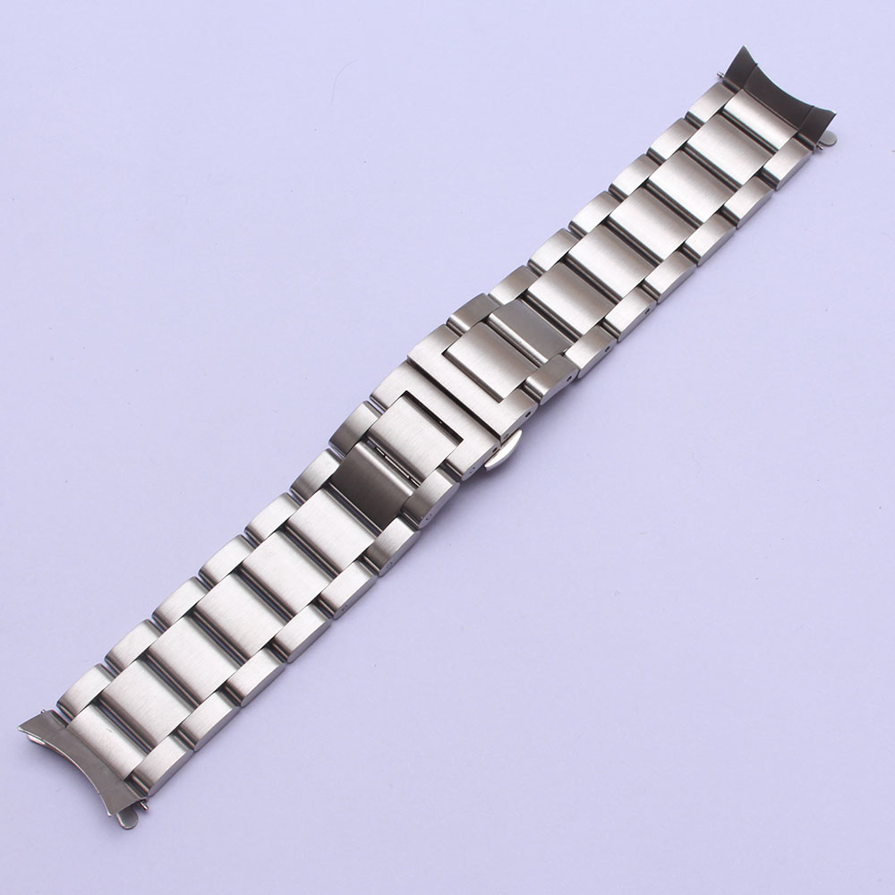 Replacement Stainless Steel Watchband strap 22mm Curved Ends Fit Gear S3 frontier Classic Watch band fashion style accessories jansin 22mm watchband for garmin fenix 5 easy fit silicone replacement band sports silicone wristband for forerunner 935 gps